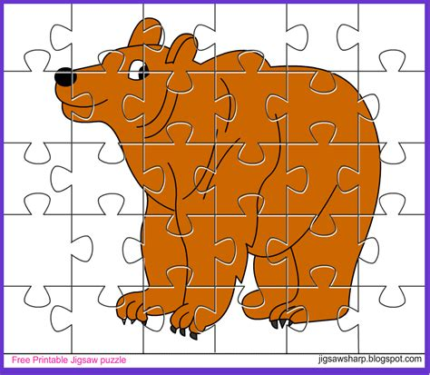 printable photo jigsaw puzzles free printable jigsaw puzzle game bear jigsaw puzzle