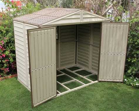 Vinyl Outdoor Sheds by Duramax Sheds Line Of Duramax Sheds With Free