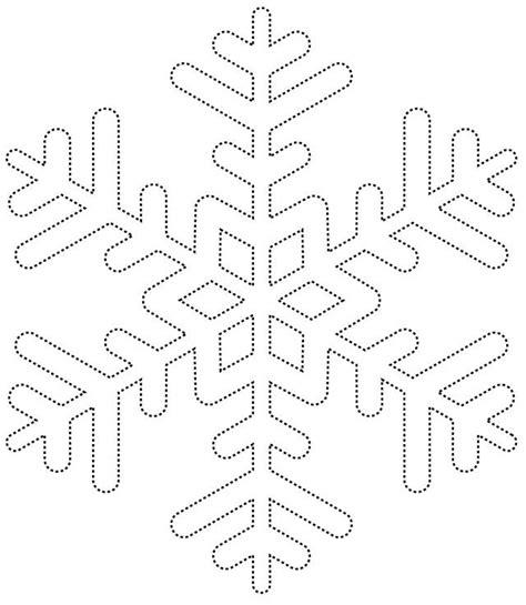 A4 Printable Snowflake Template | sneeuwvlokken borduren of tekenen hobby blogo nl