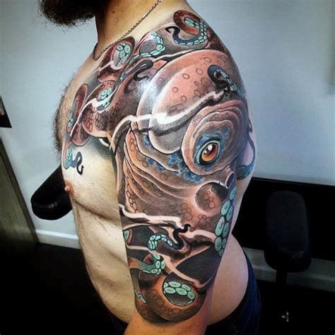 octopus tattoo for men 50 octopus sleeve designs for manly ink ideas