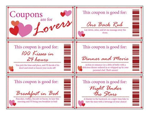 pinterest free printable love coupons printable love coupon booklet clean man stuff pinterest