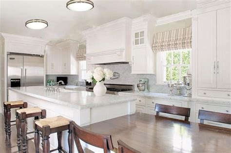 Kitchen Overhead Lighting Led Ceiling Lighting On Low Ceiling For Open Kitchen Using White Color Scheme Ideas Artenzo