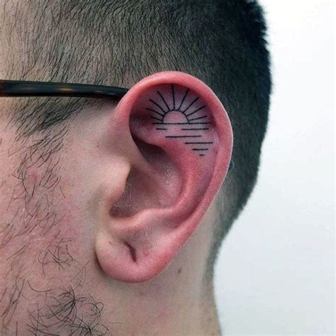 behind ear tattoos for men 100 ear tattoos for inner and outer design ideas