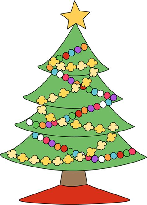festive christmas tree clip art festive christmas tree image