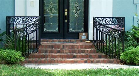 front porch metal railings 23 best railings images on wrought iron
