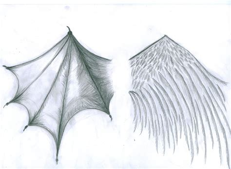 angel and devil wings tattoo designs grey ink and wings design