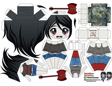 Paper Crafts Anime - anime papercraft templates este es mi version de