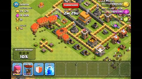 Balon Max Coc clash of clans how to use balloons properly