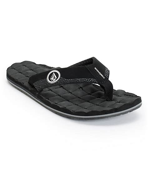 Volcom Recliner Sandals Volcom Recliner Black Sandals Zumiez