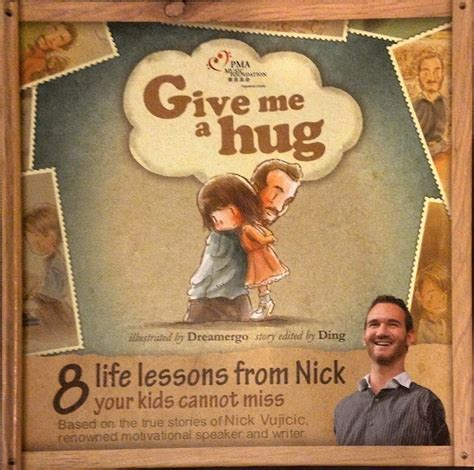 book review give me a hug 8 life lessons from nick your books give me a hug