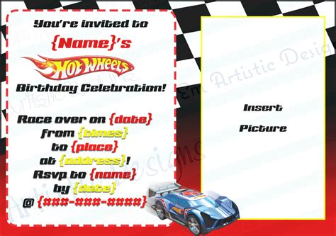 wheels invitation templates cloudinvitation com
