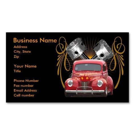 ford business card template 20 best rod business cards images on