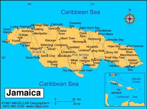 map us and jamaica falmouth jamaica map