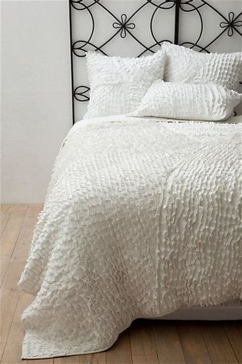 contemporary textured white quilt bedding