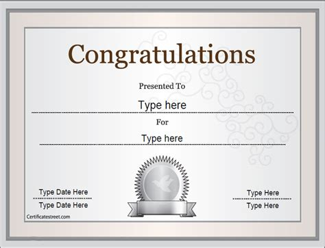 free certificate congratulations template search results