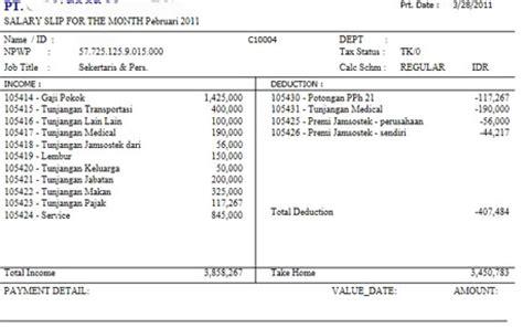 format slip gaji karyawan restoran contoh contoh slip gaji karyawan perusahaan inilah gaji