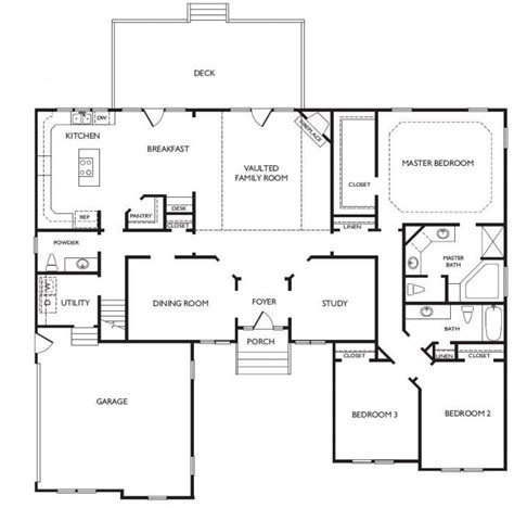 unique one story house plans 45 best images about floor plans on pinterest split