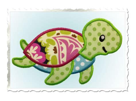 cute applique pattern cute sea turtle applique machine embroidery design