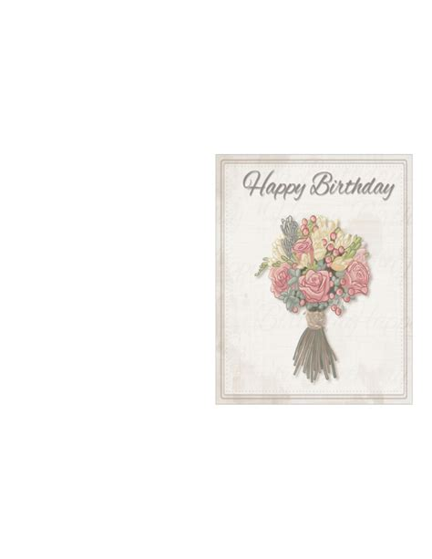 2 Year Birthday Card Template by Birthday Card Template Delicate Bouquet Free
