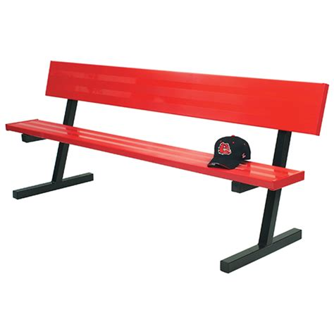 sports bench seating 7 189 player bench w seat back portable powder coated