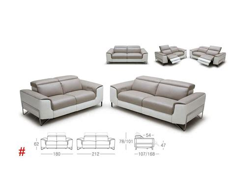 modern leather reclining sofa modern reclining sofa set vg881 leather sofas