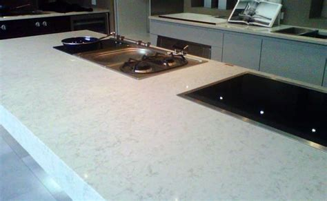 quartz alternative to white carrara marble kitchen