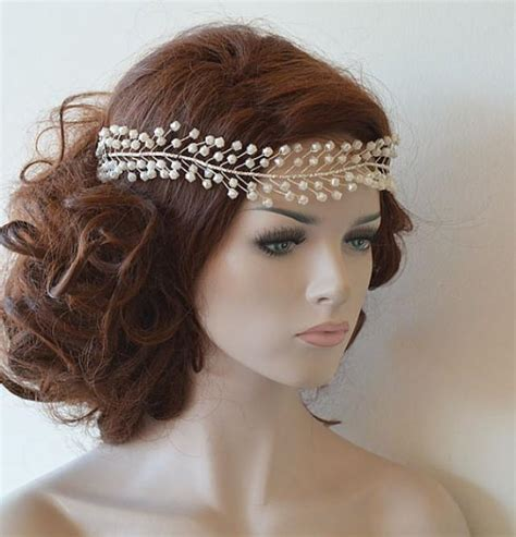 Wedding Hair Accessories by Wedding Headband Bridal Pearl Hair Vine Bridal Headband