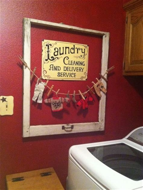 Unused Photo Frame For Vintage Laundry Room Wall Decor Diy Laundry Room Decor