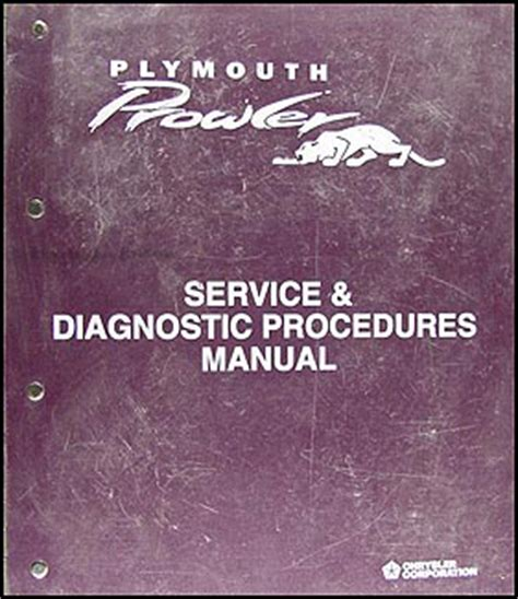 service and repair manuals 1997 plymouth prowler instrument cluster 1997 plymouth prowler repair shop manual original