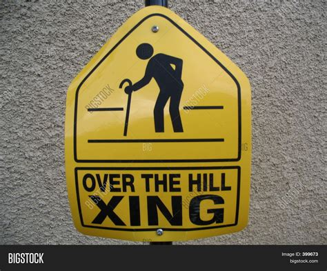 over hill sign image photo bigstock