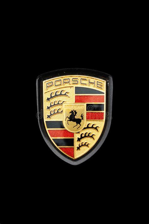 Porsche Zeichen by Porsche Zeichen Redaktionelles Stockfotografie Bild