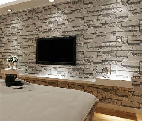 brick wallpaper living room stacked brick 3d wallpaper modern wallcovering pvc