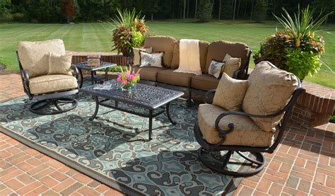 Patio Conversation Sets With Swivel Chairs Style Patio Furniture Conversation Set