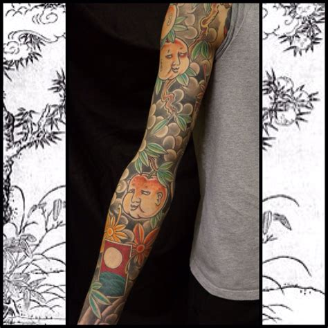 yokai tattoo yokai sleeve jinmenju roddy mclean tattooer