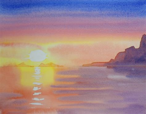 tutorial watercolor sunset 143 best watercolour lessons images on pinterest water