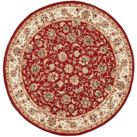 Area Rugs 5 X 6 Safavieh Chelsea Burgundy Ivory 5 Ft 6 In X 5 Ft 6 In Area Rug Hk78b 5r The Home Depot