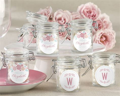 wedding shower favor ideas personalized rustic vintage bridal glass favor jars my wedding favors