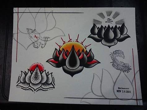 tattoo flash lotus flower lotus flower tattoo flash by ericscsavnickitattoo on