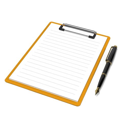 Pen Paper Joyko Trigonal Clip No 1 clipboard pen board 3ds