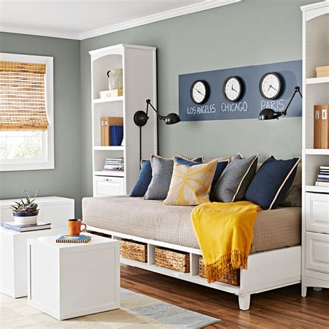 make a twin bed into a couch welcoming guest room refresh