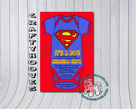 Superman Baby Shower Invitations by Superman Baby Shower It S A Boy