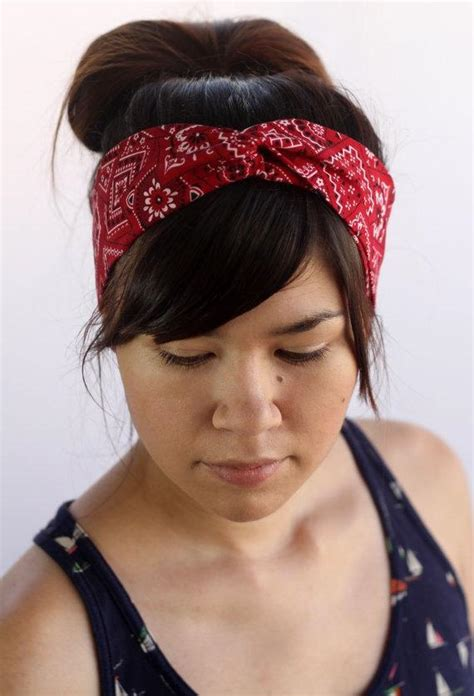 Bandana Headband bandana turban headband rosie the riveter by thepurplebees