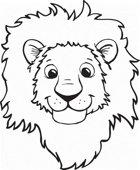 cartoon lion coloring pages 112 best lions and tigers images on pinterest kids net