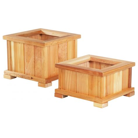 Small Square Modern Wood Planter Boxes With Legs For Deck Small Wooden Planter Box