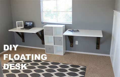 build a floating desk diy floating desk build ikea hack