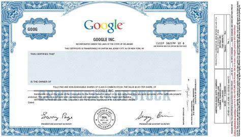 Logo Stock Option Certificate Template