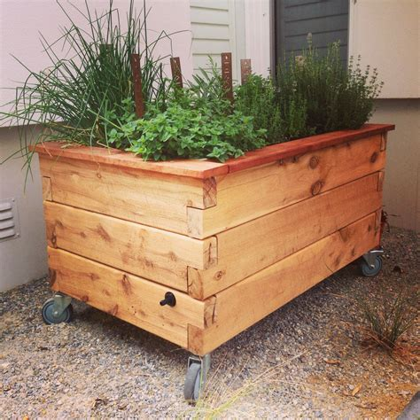 Outdoor Raised Planters by Raised Garden Planter Home Outdoor Decoration
