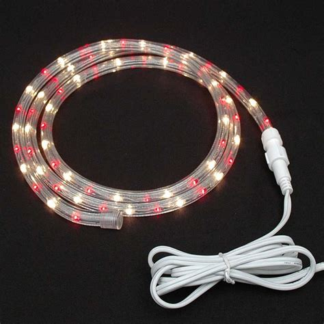custom red clear rope light kit 120v 1 2 quot novelty lights
