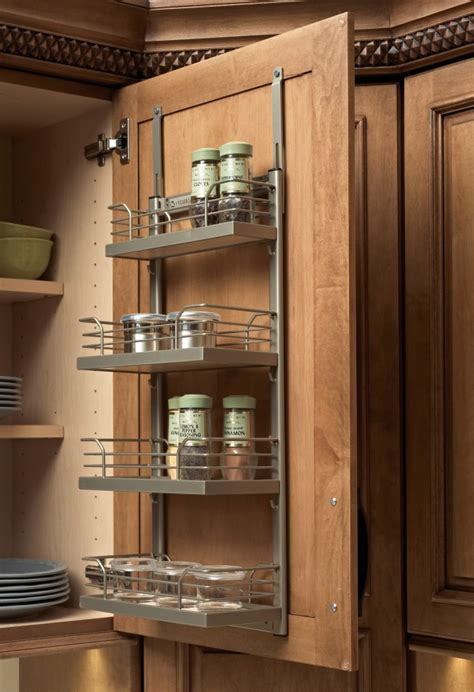 inside cabinet door spice rack 18 space saving kitchen hacks that every should