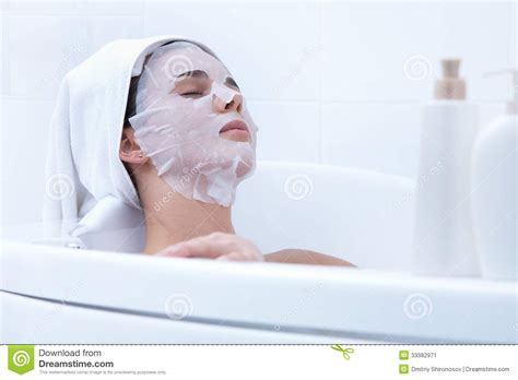 bathroom facials beauty procedure stock image image 33382971
